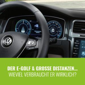 e-Golf 7 Reichweite & Verbrauch